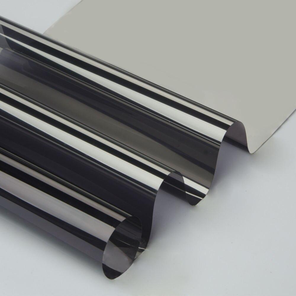 100cm x 600cm Grijs & Zilver Isolatie Glasfolie Zonne Tint Reflecterende Een Manier Spiegel Venster Tint-in Decoratief folie van Huis & Tuin op  Groep 1