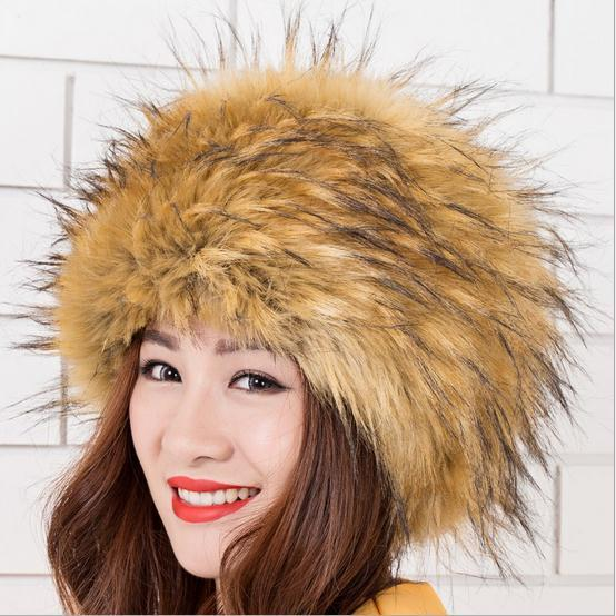Russian Cossack Warm Winter Tail Beanie Beret Cap Womens Faux Fur Hat Ear  Earflap Hat Women Beanie Headgear Capes Leisure Y773 cf89bd303c9