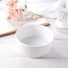 Round Ceramic Cake Molds Baking Bowl Pans For Macaron Egg Tart Cupcake Pudding Bowls Dishes Kitchen Baking Tools