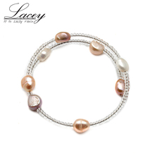 Cheap Freshwater Pearl Bracelet,Cultrued Real Bracelet For Women,Pearl Jewelry Gift Drop Shipping
