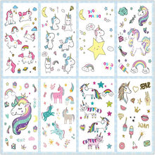 Rocooart Cartoon Unicorn Tattoo For Kid Cute Fake Taty Children Tatouage Temporaire Body Art Waterproof Temporary Tattoo Sticker(China)