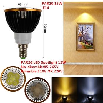 30XDHL LED PAR20 Bulbs E14 15W 5*3W Warm White/Cold White/Pure White 110V 220V Dimmable LED PAR 20 P20 Spotlights Lamps