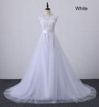 A Line Lace Beach Wedding Dress