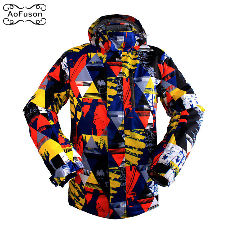 Professional Ski Snowboard Jacket Snow Windproof Waterproof Warm Hiking Coat Breathable Skiing Hooded Graffiti Jacket Men M-3XL tangnest men formal coat 2018 high quality business casual style men jacket new solid slim long black jacket size m 3xl mwn180