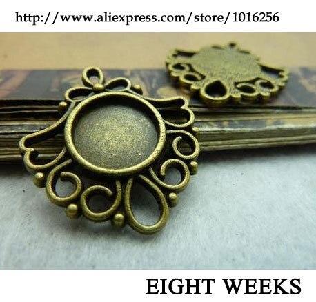 1Pcs Gold//Silver Flip-Flops Forme Perles Cage Pendentif À faire soi-même Collier Bijoux