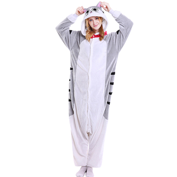 Adult Cat Pajamas Cosplay Animal Nightwear Cartoon Cute Cat Clothing Hooded Women Pajamas Animal Onesies Sleepwear For Women Men pajamas