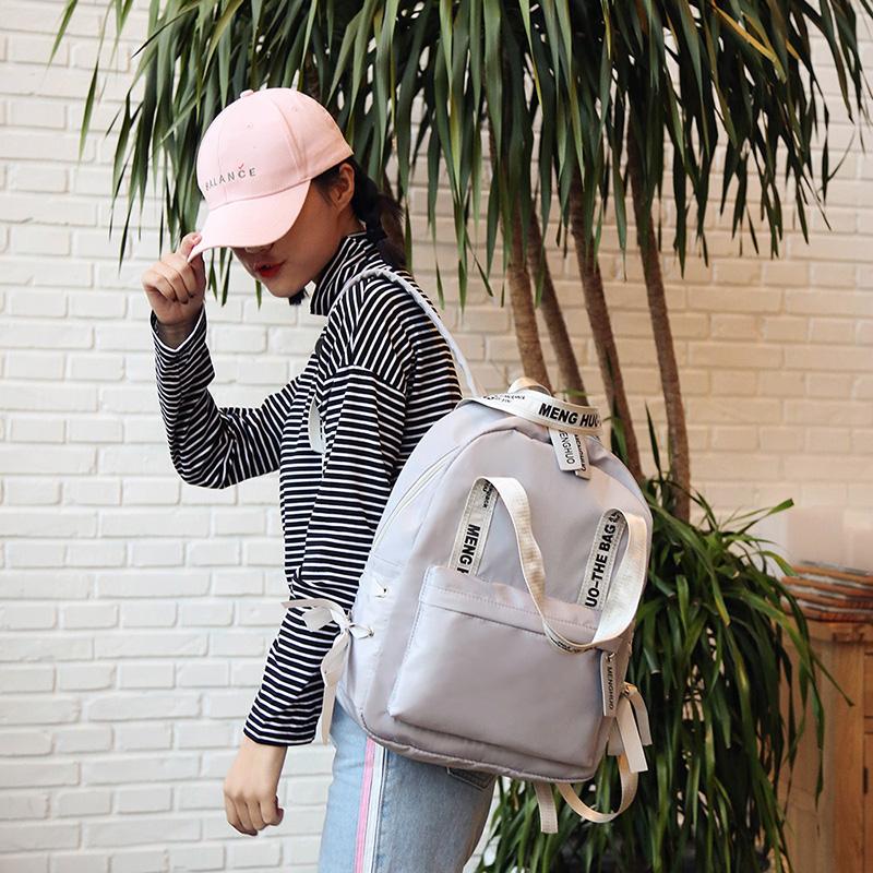 Menghuo Large Capacity Backpack Women Preppy School Bags For Teenagers Female Nylon Travel Bags Girls Bowknot Backpack Mochilas (31)