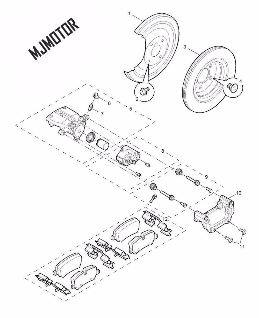 2013 nouveau jeu de plaquettes de frein arrière auto voiture PAD KIT-FR frein à disque pour SAIC MG6 ROEWE 550 pièce Automobile 10084008 - 2