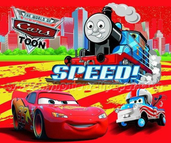 Online Shop High Quality Thomas Train 3d Wall Paper Cartoon Mural Wallpaper  Contact Paper For Kids Room Papel De Parede | Aliexpress Mobile