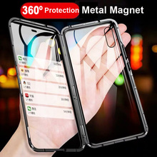 Do dower Metal Magnetic Case for iPhone XR XS MAX X 8 Plus 7 +Tempered Glass Back Magnet Cases Cover for iPhone 7 6 6S Plus Case metal magnetic case for iphone 11 pro xr xs max x 8 plus 7 tempered glass back cover for fundas iphone 7 8 6 6s plus case bumper