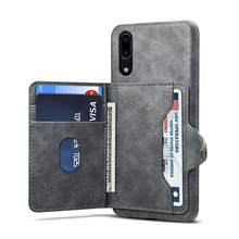 Vintage card holder pu leather phone case for Huawei P20 P20pro P20lite(China)