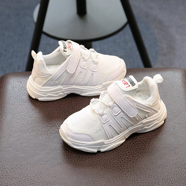 AFDSWG spring and autumn white mesh breathable running shoes boys black casual sports shoes children pink kids school shoes