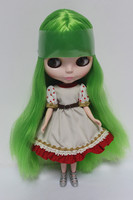 Blygirl Blyth doll Nude doll 30cm ordinary body green grass Liuhai straight hair doll dolls for makeup can be replaced body