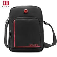 BALANG Fashionable Men Messenger Bags Travel Crossbody Bags For Men Shoulder High Quality Waterproof Nylon Zipper