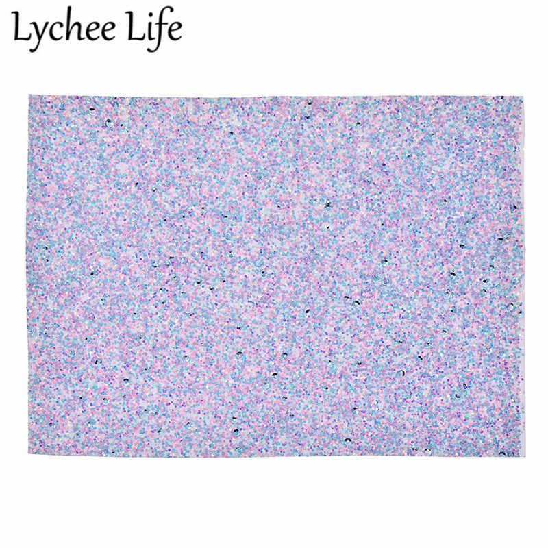 Lychee Vita A5 Chunky Glitter Faux Tessuto di Cuoio 21x15 cm Tessuto DELL'UNITÀ di ELABORAZIONE di FAI DA TE Fatti A Mano Da Cucire Abbigliamento Abbigliamento Accessori forniture