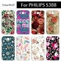 Para philips s388 case lujo duro de la contraportada del teléfono móvil 360 protección completa cubierta del teléfono inteligente para philips s388 s 388