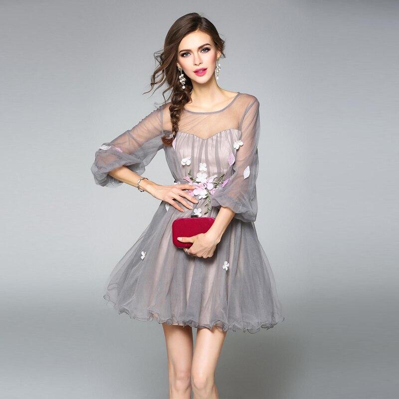 88767d7ecf Summer mesh Ball Gown Dresses women 2018 femme white Flower Sweet princess  short Dresses lady party Ball Gown dress Vestidos-in Dresses from Women's  ...