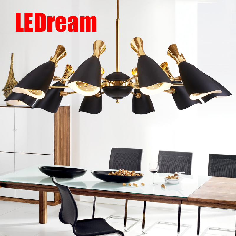Postmodern contracted and fashionable sitting room chandelier Nordic creative restaurant designers villa droplight lamps fashion the nordic contracted and contemporary retro restaurant individuality creative glass droplight sitting room