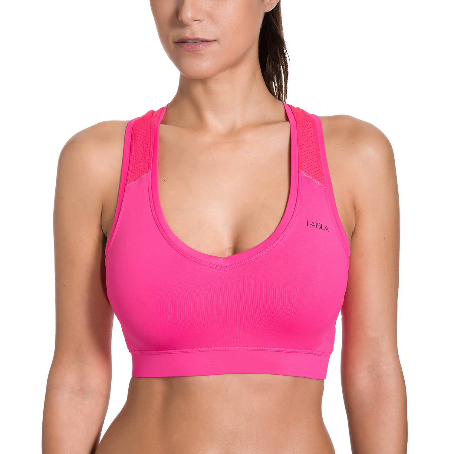 Women's Wire Free Non Padded Mesh Racerback Sports Bra Top недорго, оригинальная цена