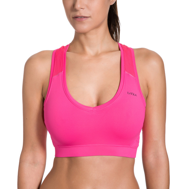 a1a1a4cd84 Women s Wire Free Non Padded Mesh Racerback Sports Bra Top-in Sports ...