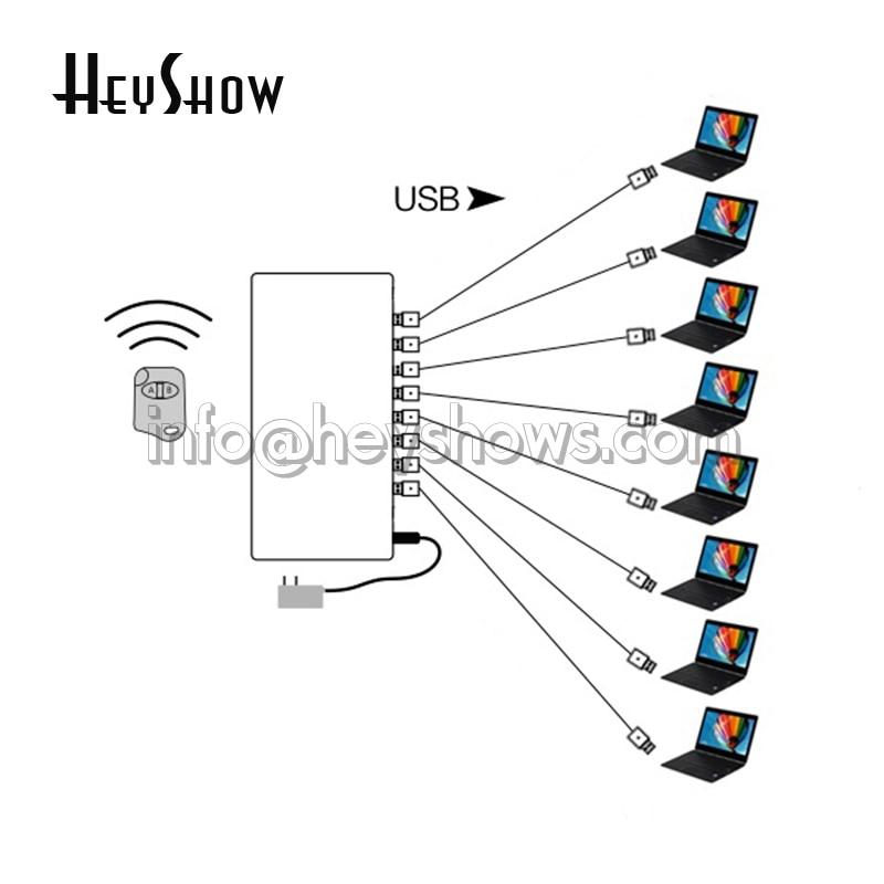 4 6 8 10 ports système d'alarme de sécurité pour ordinateur portable PC Anti-vol boîte d'affichage ordinateur portable alarme antivol pour exposition de magasin Mobile - 5