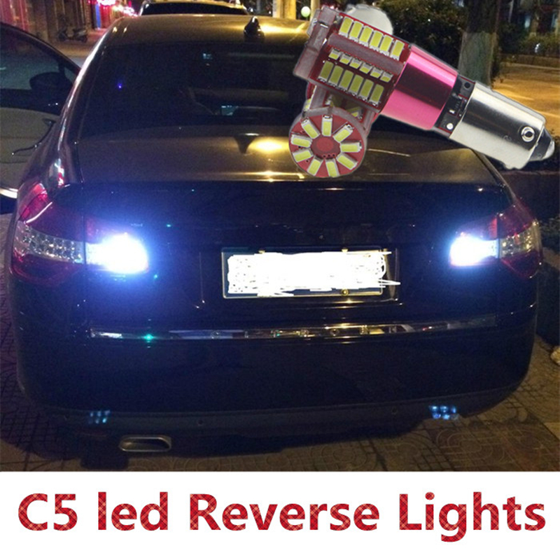 Tcart 2x led 4014 Chip High Power Backup Reverse Lights For Citroen c5 accessories 2008-2016