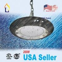 США со НЛО вело высокий свет залива 200 Вт НЛО промышленное освещение с UL DLC список AC100 277V с 5 лет гарантия