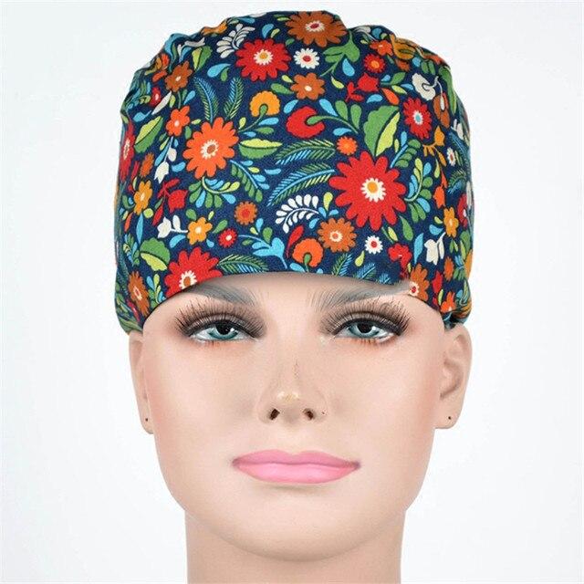 flowering shrubs women s medical cap pattern nursing hat surgeon