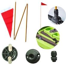 47 дюймов, защитный комплект для байдарки с флагом, рейка, крепление для морской лодки, рыбалки