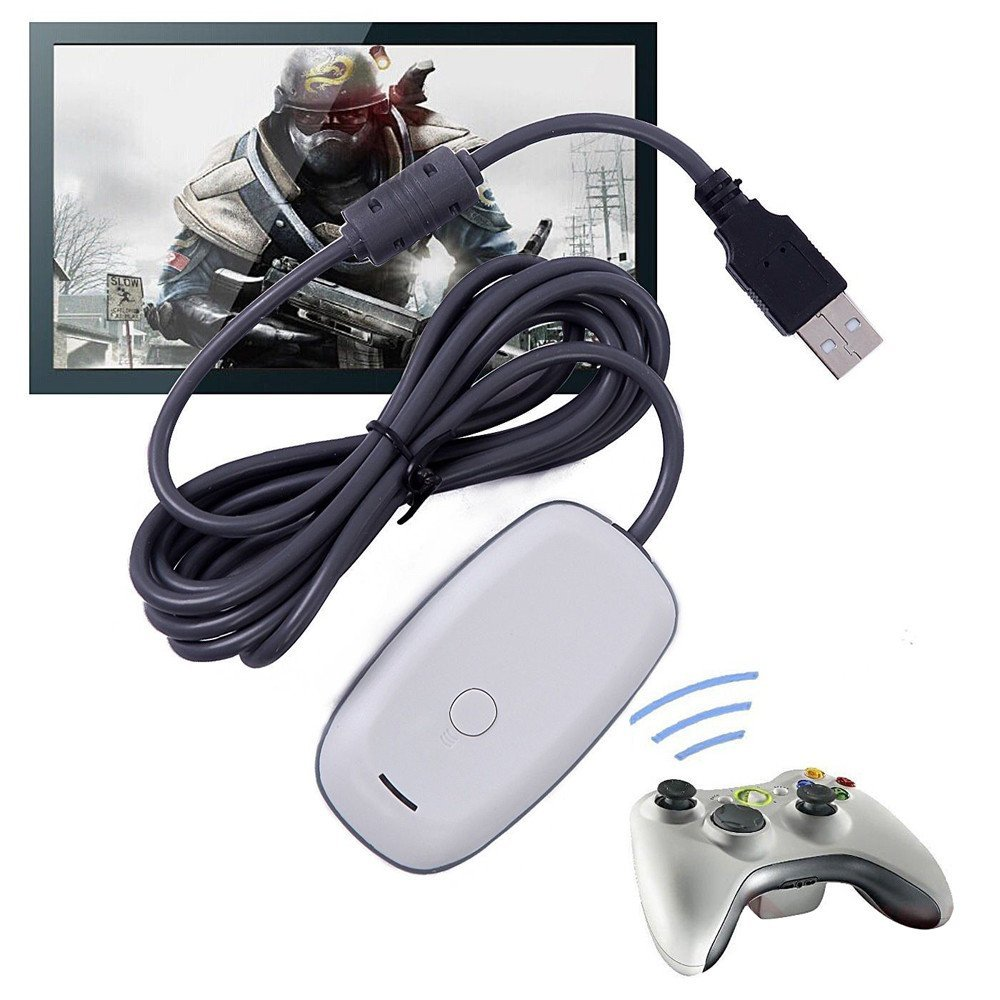USB PC wireless gaming receiver for xbox 360 controller microsoft XBOX360 console gamepad adapter accessories Windows 7/8
