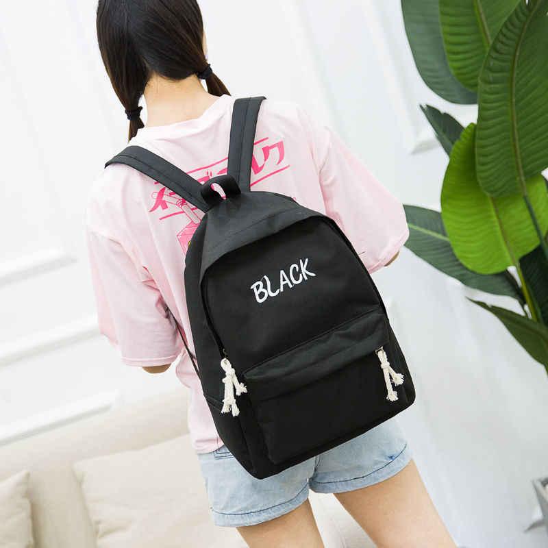 วัยรุ่นไหล่กระเป๋าหญิง 2018 ใหม่กระเป๋าหญิงเกาหลี Harajuku Ulzzang นักเรียนกระเป๋าเป้สะพายหลัง