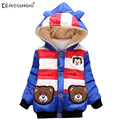 KEAIYOUHUO Bear Toddler Fleece Hoodies Outerwer For Boys 2017 New Winter Girls Coats Jackets For Girls Cotton Children Clothes
