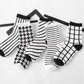 Fashion Dress Mens Women's Socks Popular Unisex Casual Cotton Plaid Socks-Y107