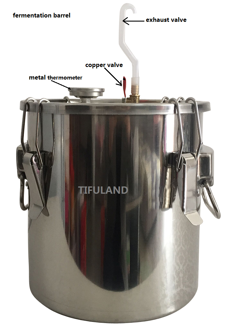 10L/20L/35L/54L Wine Fermentor With Thermometer High Quality  Fermenter Barrel Stainless Steel Fermenters