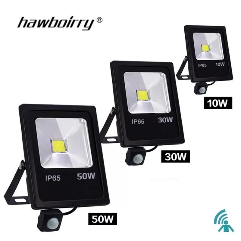 Motion Sensor LED Floodlight 10 W 30 W 50 W 220 V Floodlight Reflector Foco LED Outside Waterproof IP65 Outdoor SpotLight