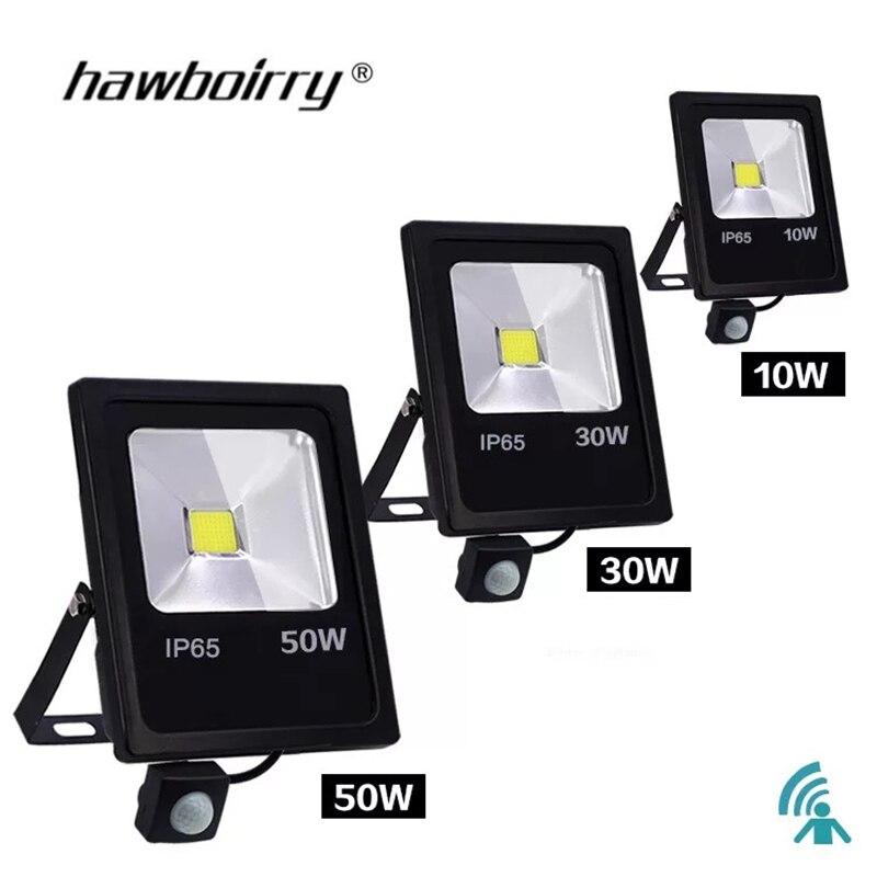 Projecteur détecteur de mouvement LED 10 W 30 W 50 W 220 V projecteur réflecteur foco LED extérieur étanche IP65 projecteur extérieur