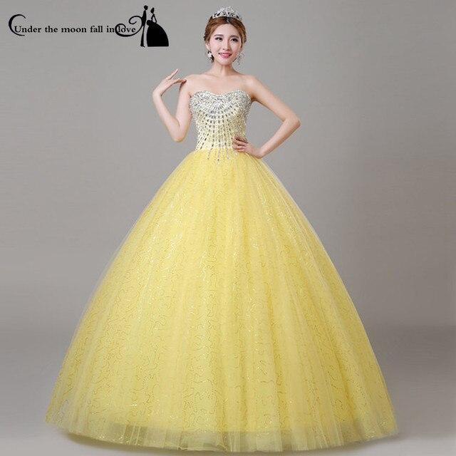 Quinceanera dresses yellow