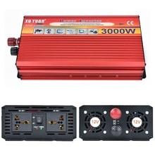 Tragbare Auto Wechselrichter DC 12 V AC 220 V 3000 Watt Auto Ladegerät Wechselrichter Netzteil-konverter-adapter Mit doppel Universelle Buchse