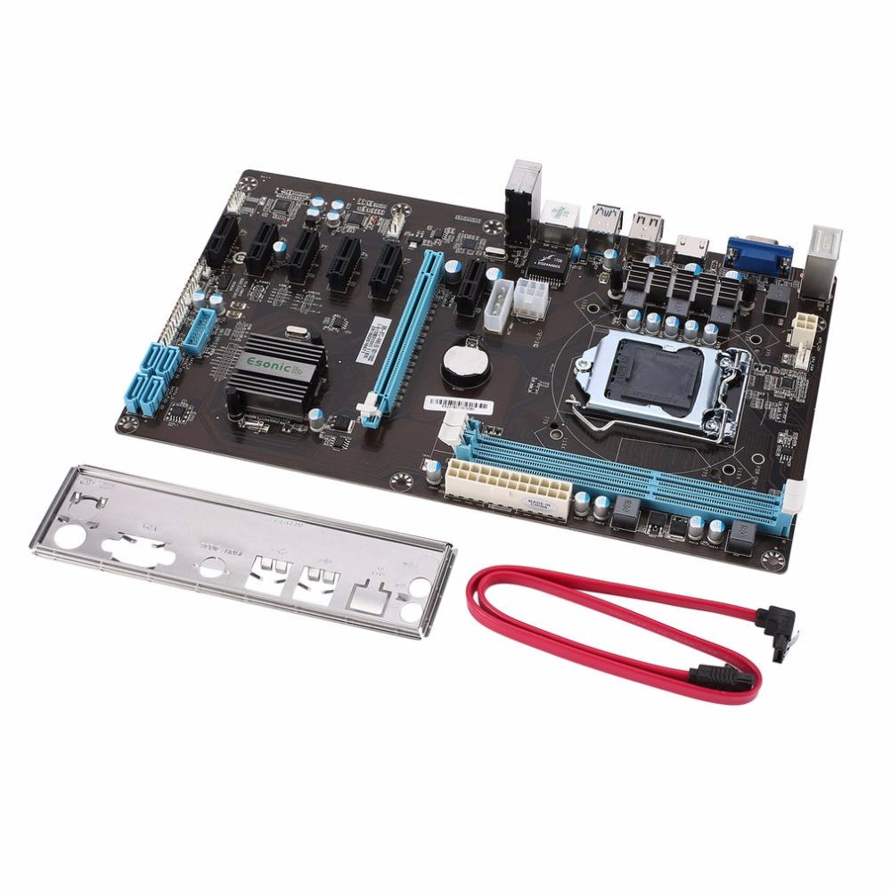 Stable Version PCI Express 1x To 16x Riser 6 GPU Mining Motherboard 6pcs PCI E Extender