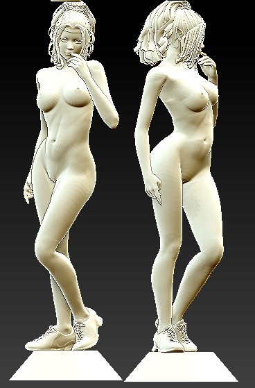 New 3D Model For Cnc 3D Carved Figure Sculpture Machine In STL File Format Naked Woman-4