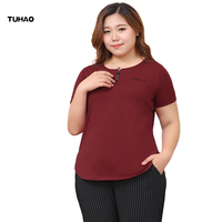 TUHAO Plus Size 10XL 8XL 6XL T Shirt Women Tops Tee Shirt Female 2018 Office Lady Tshirt Women T shirt Summer T Shirts MS76