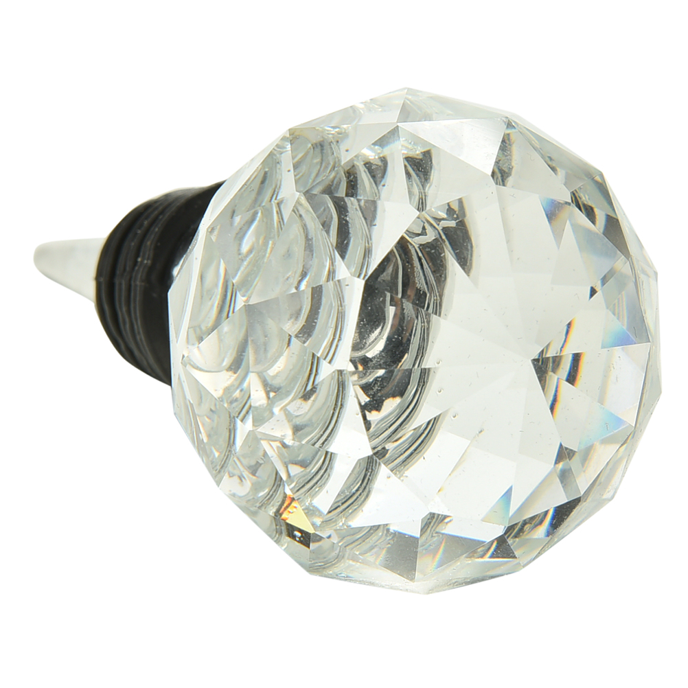 New 1Pcs Big Diamond Crystal Wine Stopper Wine Bottle Opener Bar ...