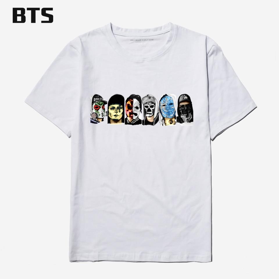 Desain t shirt kerah - Bts Hollywood Undead Hitam T Shirt Pria Katun Kerah Fashion Desain Tshirt Pria Katun Musim