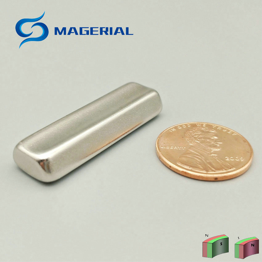 2-48pcs Grade N45 Water Soften NdFeB Magnet Arc R16xr10x45deg.x36 mm Motor magnet for ge ...