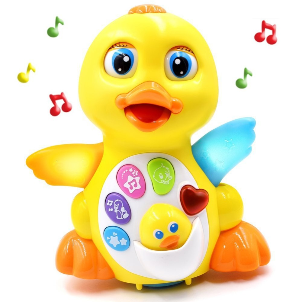 Toy Musical Instrument Learning & Education Musical Duck Toys Plastic Electronic Pets Adjustable Sound Toys For Children