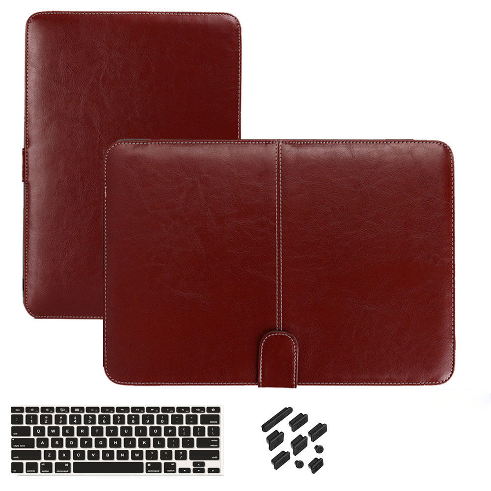 Magnetic Pu Leather Laptop Case for Macbook Pro 13 A1707 A1706 2016 with/No Touch Bar laptop sleeve for macbook pro 13.3 Cases ...