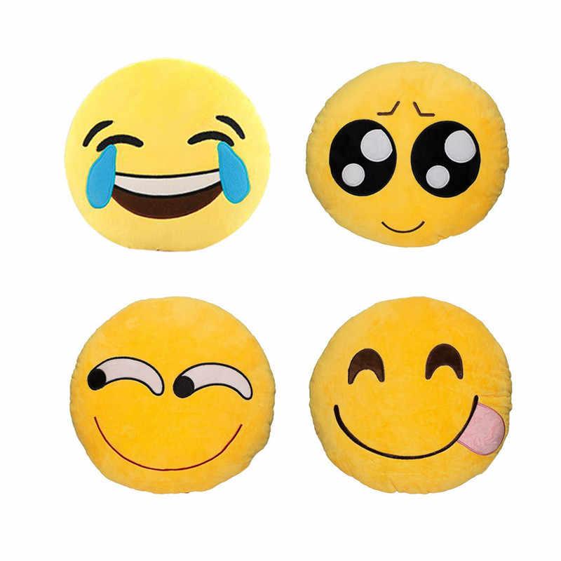 Hot Sale Cute Smiley Face Emoji Pillow Soft Plsuh Home Sofa Throw Pillow  Seat Cushion Monkey Ghost Emoticon Style Almofadas