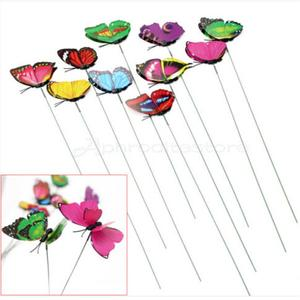 10Pcs Colorful Butterfly On St