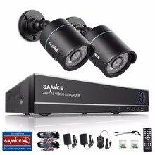 SANNCE 4CH 1080 P Salida HDMI CCTV DVR Kit 2 unids 720 P TVI visión nocturna por INFRARROJOS Sistema de Cámaras de Seguridad a prueba de agua kit de Vigilancia 1 TB