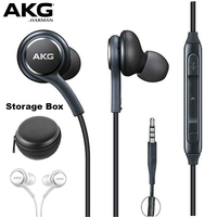 AKG Earphones IG955 3.5mm In-ear with Microphone Wire Headset for hauwei xiaomi Samsungs Galaxy S8 S9 smartphone